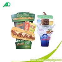 food store Pastrami Melt savor the flavor Silk Dairy-free fro-yo Meal restaurant cardboard floor display customize