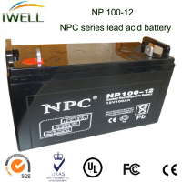 IWELL NPC Series Lead Acid battery 100Ah 12v ups rechargeable battery