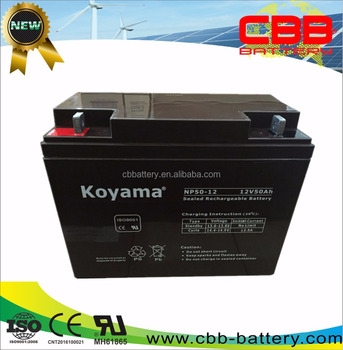 12V 50ah sealed lead acid batteries manufacturers