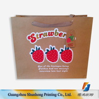 Fashion design christmas bags gift bag paper,paper packaging bag,strawberry kraft paper bag