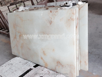 Iran white onyx marble tile, onyx glue glass lamintated marble tile