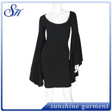 Loose and comfortable sleeve dress women new design black dresses