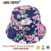 floral print bucket hats for women