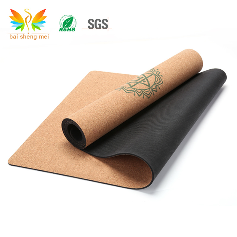 High quality natural rubber Cork yoga mat private label