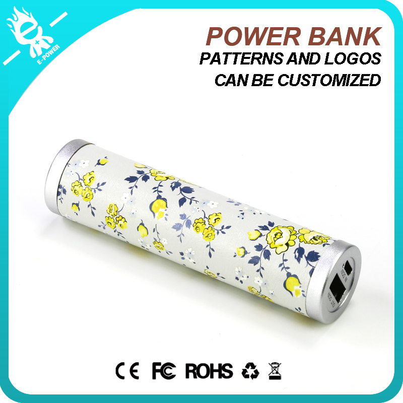 smart mobile leather 2600mah rohs powerbank power bank 2600mah gift for promotion