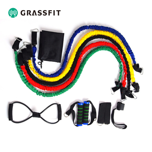 Nylon Sleeve Resistance Bands with Foam Handles