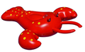 Inflatable Playground Summer Water Fun Swimming EN71 SGS Giant Red Rock Lobster Pool Float