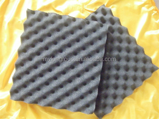 New Black Fireproof PU Film Sound Absorption Foam Sheet