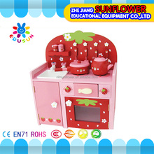 Wooden toy kitchen set children best birthday gift happy kitchen toys