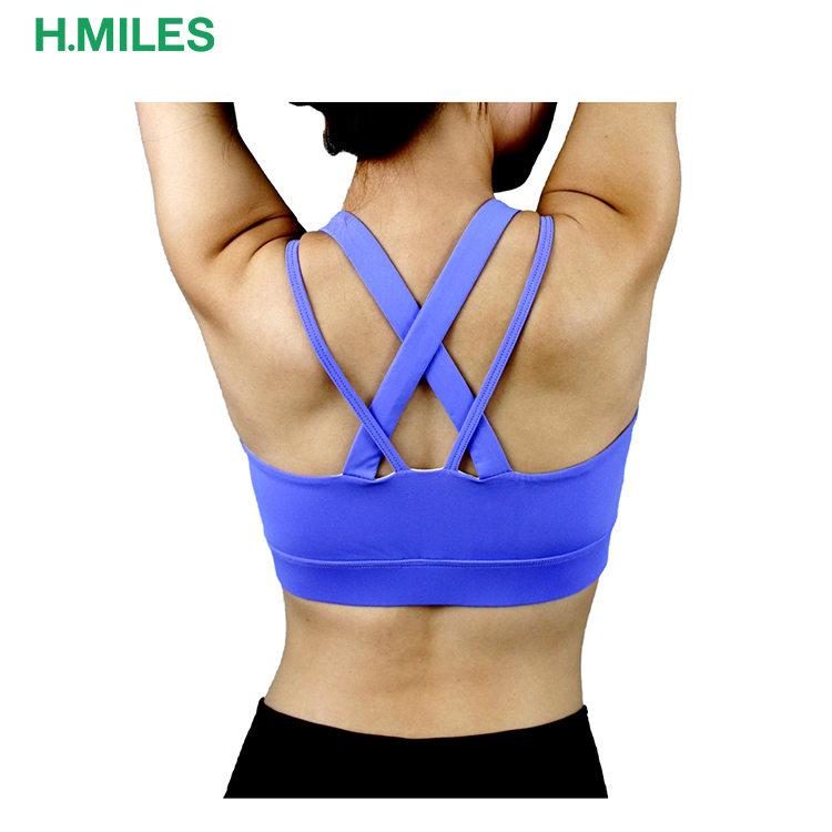 Bandage Sports Bra Women Fitness Running Bra Tops Exercise Yoga Vest