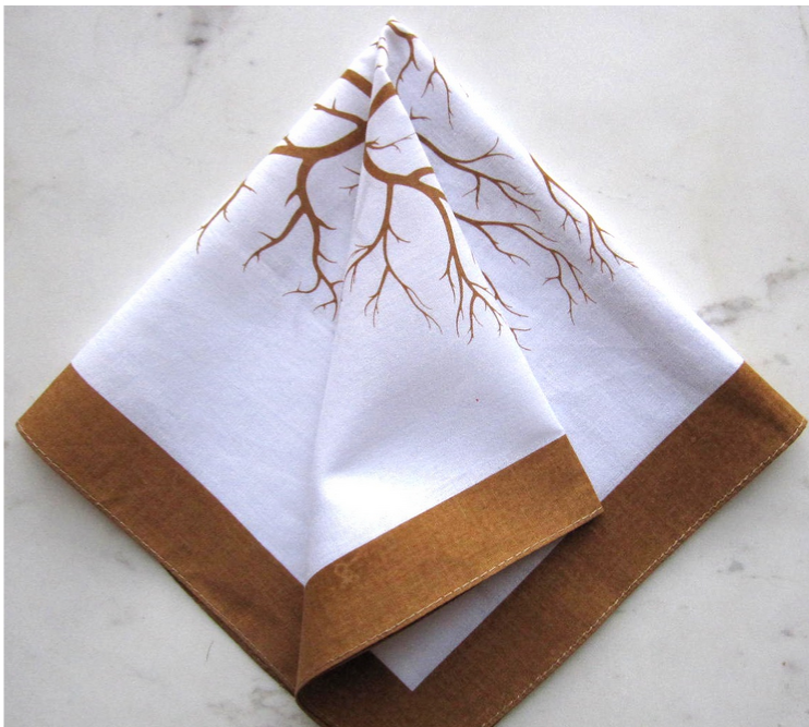 silk printing cotton square bandana