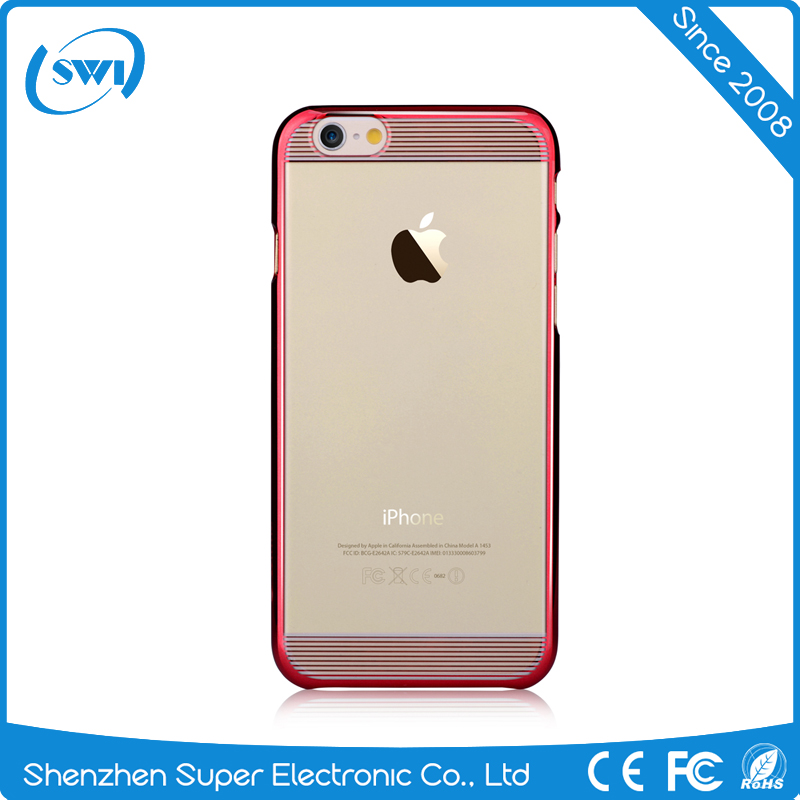 Mobile Phone Packing Electroplating Crystal Clear Hard PC Case Cover for iPhone 6/6s Plus