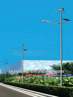 Cree chip 2013 new style Chinese manufacturer wind solar hybrid street light
