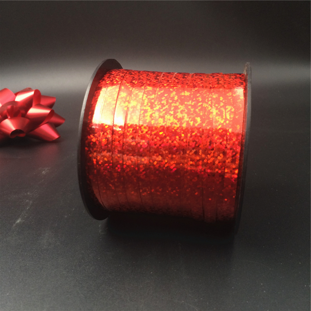 Christmas celebrate it red holographic ribbon for bows