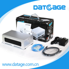 Datage Dual SATA Hard Drive RAID Box Enclosure RAID 0 And RAID 1