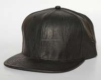 Six panels leather flat brim baseball hats and caps for men