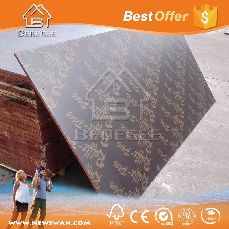 Timber Shuttering Faced Formwork Plywood Poplar Core Factory