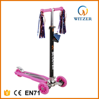 New CE EN71 3 wheel manual pedal push 120/80mm kids kick scooter