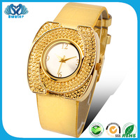 Fashion Jewellery Gold Leather Women Watch Distributor