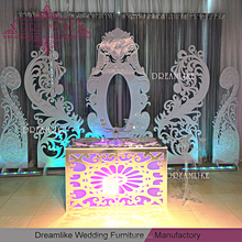 Asian wedding stage wood base backdrop decoration for sale