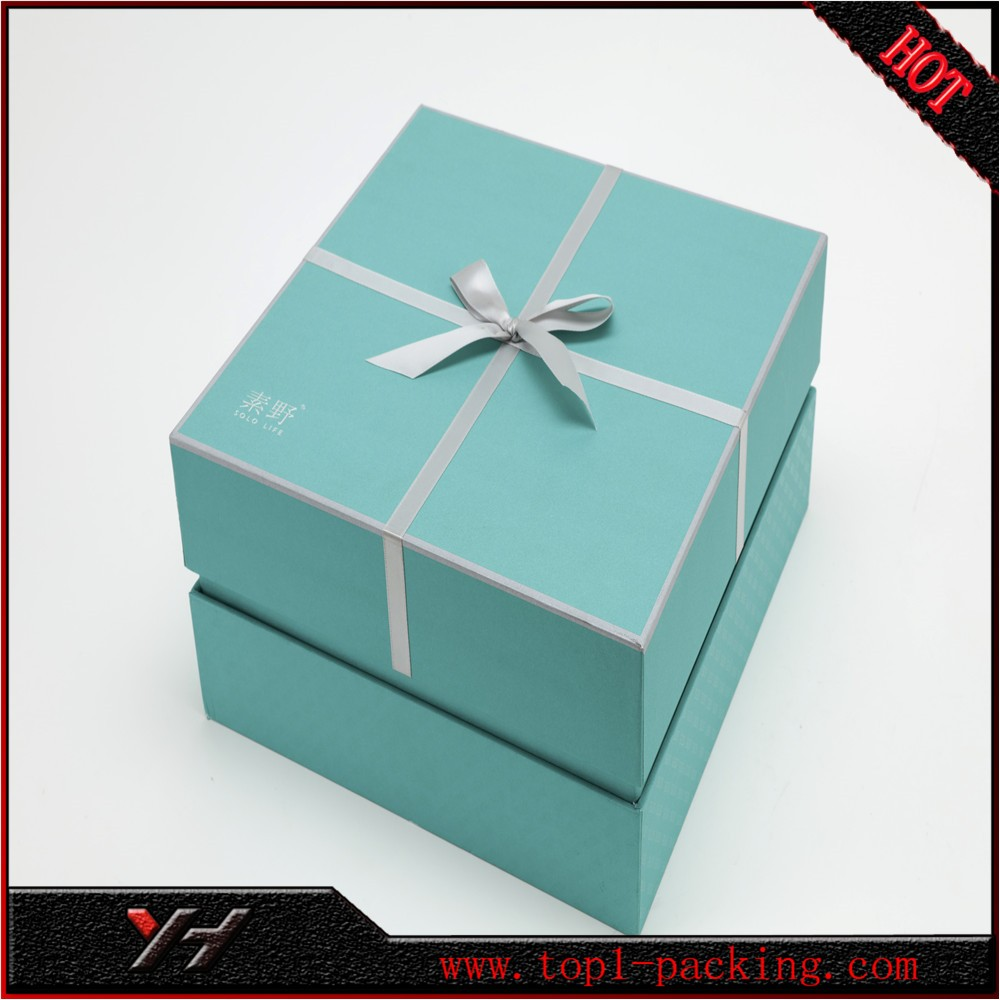 custom printed logo <strong>orange</strong> paper gift box for garment packaging with ribbon design