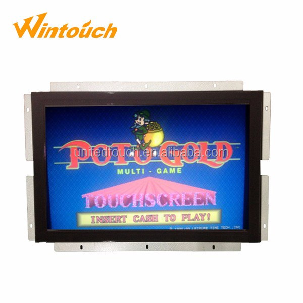 "22"" arcade game lcd monitor WMS POG game monitor with bezel"