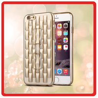 Luxury Shining 3D Bump Water Cube phone cover Electroplate TPU back Bumper holder Cell Phone Case For iPhone 6 6s plus