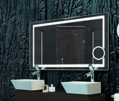 High Class 3000K 6000K LED Lighting Backlit Bathroom Mirror China With Magnifier