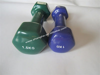 crossfit weight lifting fixed hex 3kg neoprene pvc coated dumbbell