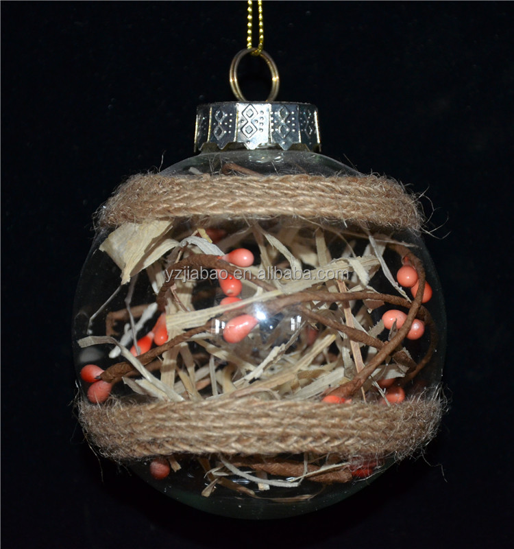 New clear decorating christmas clear glass ball as christmas ornament crafts from online crsft supply