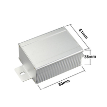 Aluminum extrusion enclosure housing for electronic