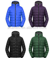 ultra light colorful foldable down mens jacket