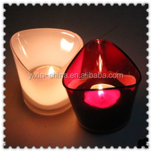 spraying glass candle holder ,tealight candle holder,holiday decoration in valentine's day