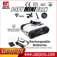 2015 Spy mini Tank 4CH RC Tank Wifi 4CH Car controlled by Ipad with Camera video 777-270