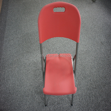 plastic injection molded event folding chairs with metal frames