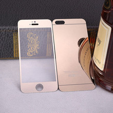 Colorful Electroplating Mirror Tempered glass screen protector for iPhone 5 6