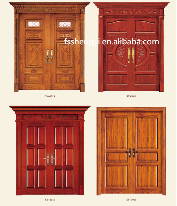 Four panel interior wood single front door buy wooden for Different door designs