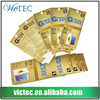 High quality gold blocking UV printing cell phone accessories screen protector paper packaging
