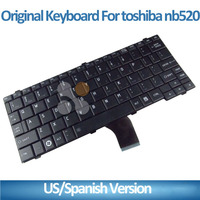 laptop with white keyboard for toshiba NB520 NB525 keyboard black