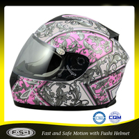 Royal rose fancy design full face motorcycle helmet 606