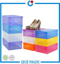 Manufacturer plastic box PP package for famous brand wholesale custom shoes box storage