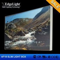 Edgelight AF18 Aluminum frame advertising Frameless led light box new products 2016 innovative product