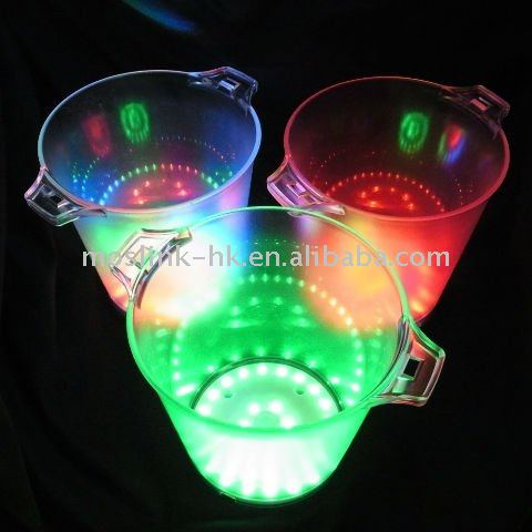 LED Ice Buckets with sound sensor function