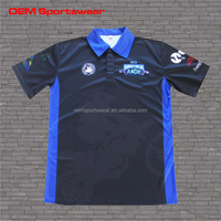 Black blue motocross jerseys custom racing shirts for men
