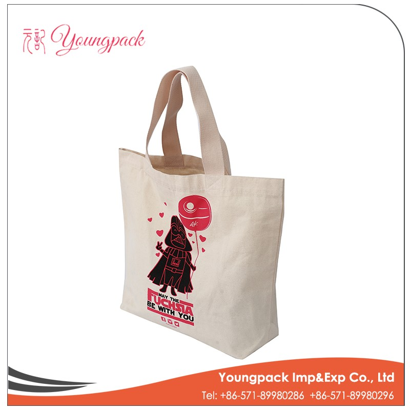 2016 Customized Standard Size cotton cloth carry bag