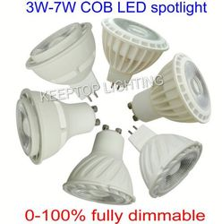 OEM low price 3w 4w 5w 6w 7w GU10 MR15 G5.3 Led spotlight need driver ac cob Led Spot Light dimmable