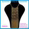Hot sale necklace most popular products gold multilayer chain necklace