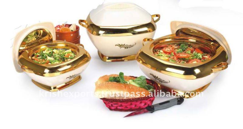 Deluxe Square Hot Pot/Casserole 3 & 4 Pcs Set