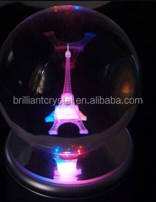 crystal glass christmas decoration balls with 3d laser