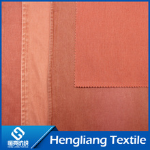 Knitted denim fabric knitted fabric stretch breathable vulcanized tie - dyed orange ribs twill